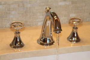 Bathroom Faucets With Crystal Handles product selections for custom kitchens and baths | cheryl pett design