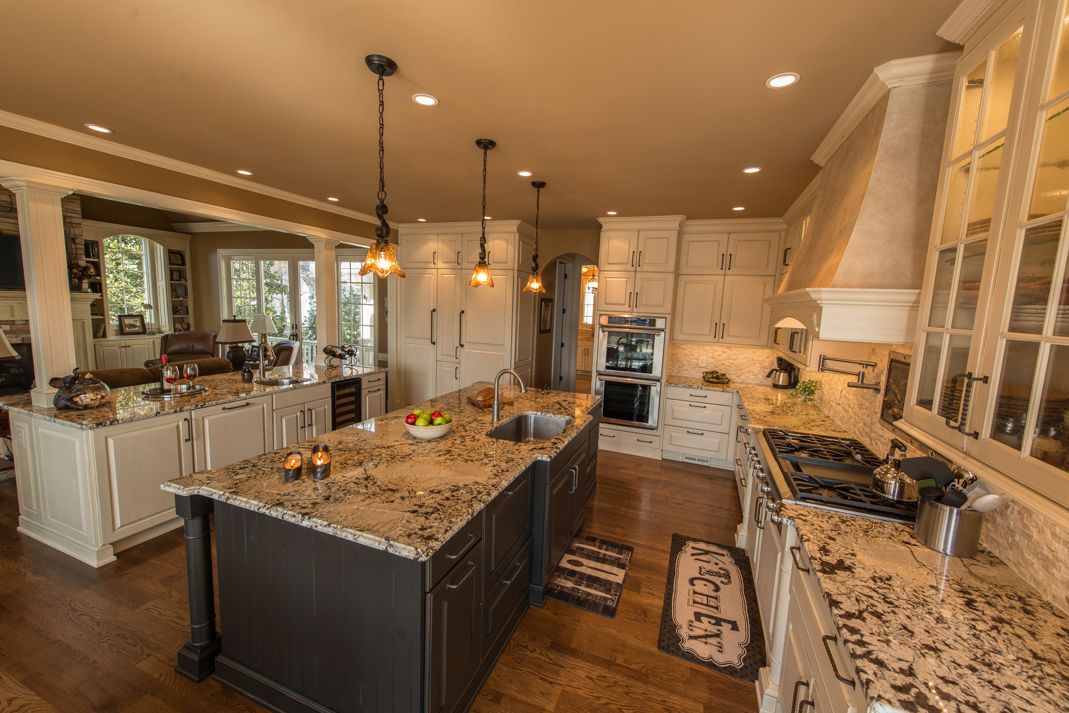 Designing a kitchen island in alpharetta roswell milton - Kitchen island with cooktop and prep sink ...