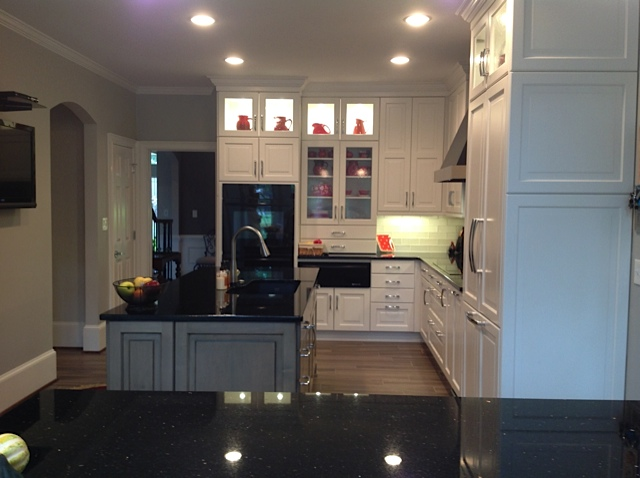 There is enough clearance between the island and the rest of the kitchen.  Traffic patterns - Designing A Kitchen Island In Alpharetta, Roswell, Milton Cheryl