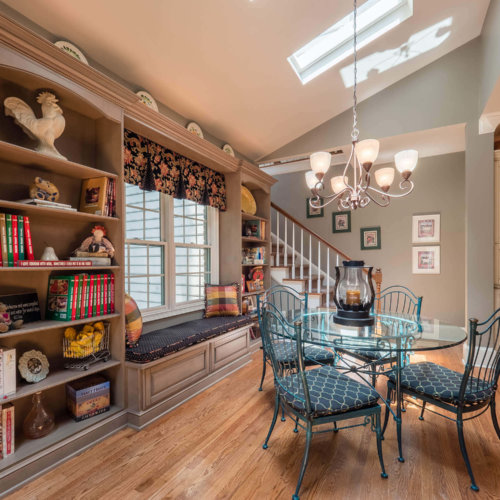 Tri-Color Kitchen With Country Breakfast Nook