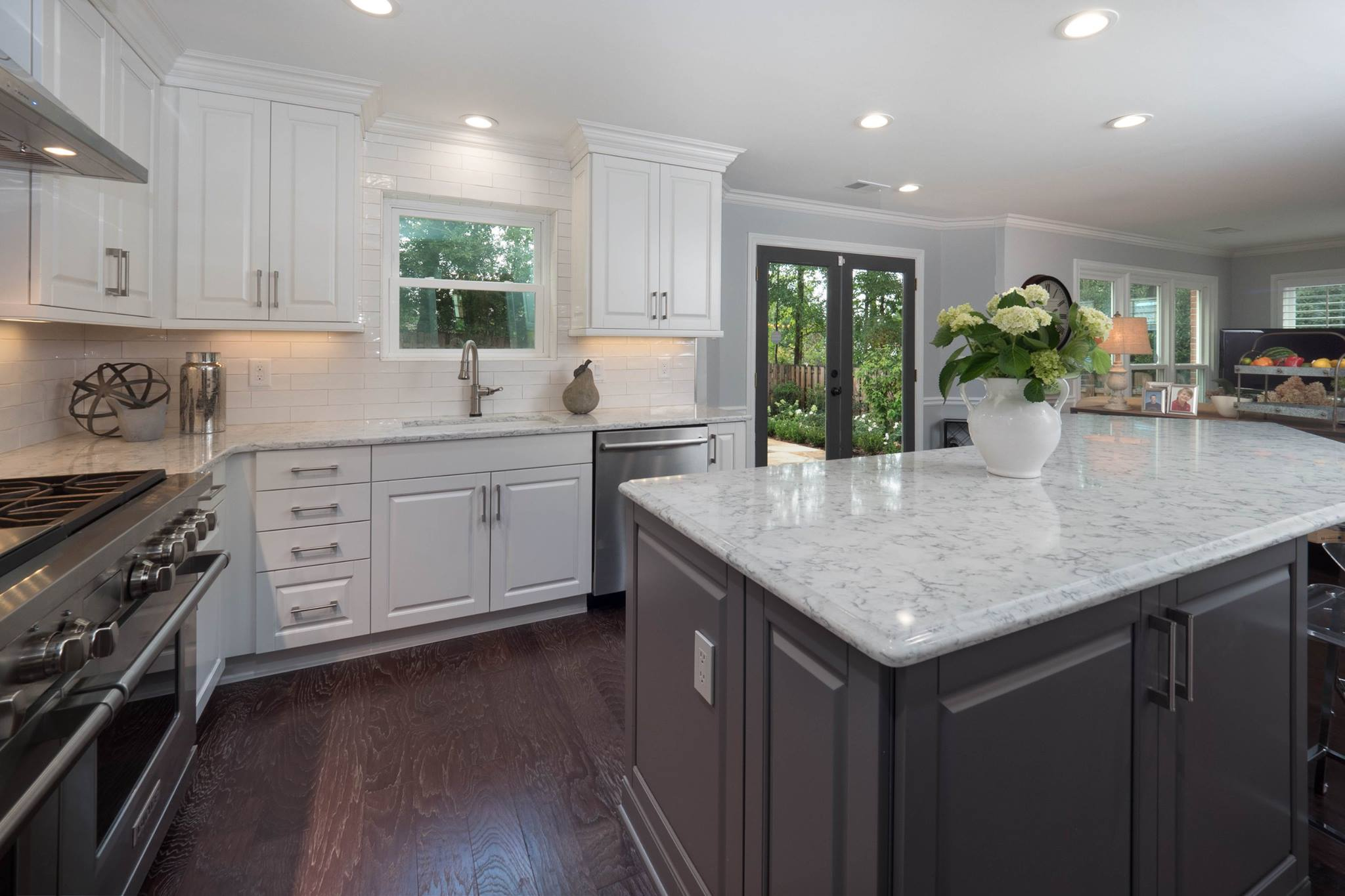grey kitchen island contemporary white gray kitchen cheryl pett design 7672