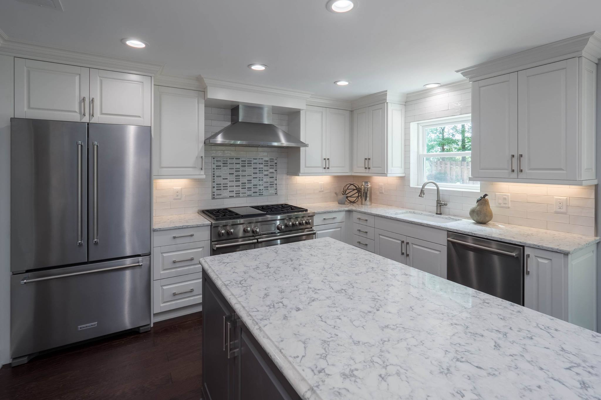 Contemporary White & Gray Kitchen - Cheryl Pett Design