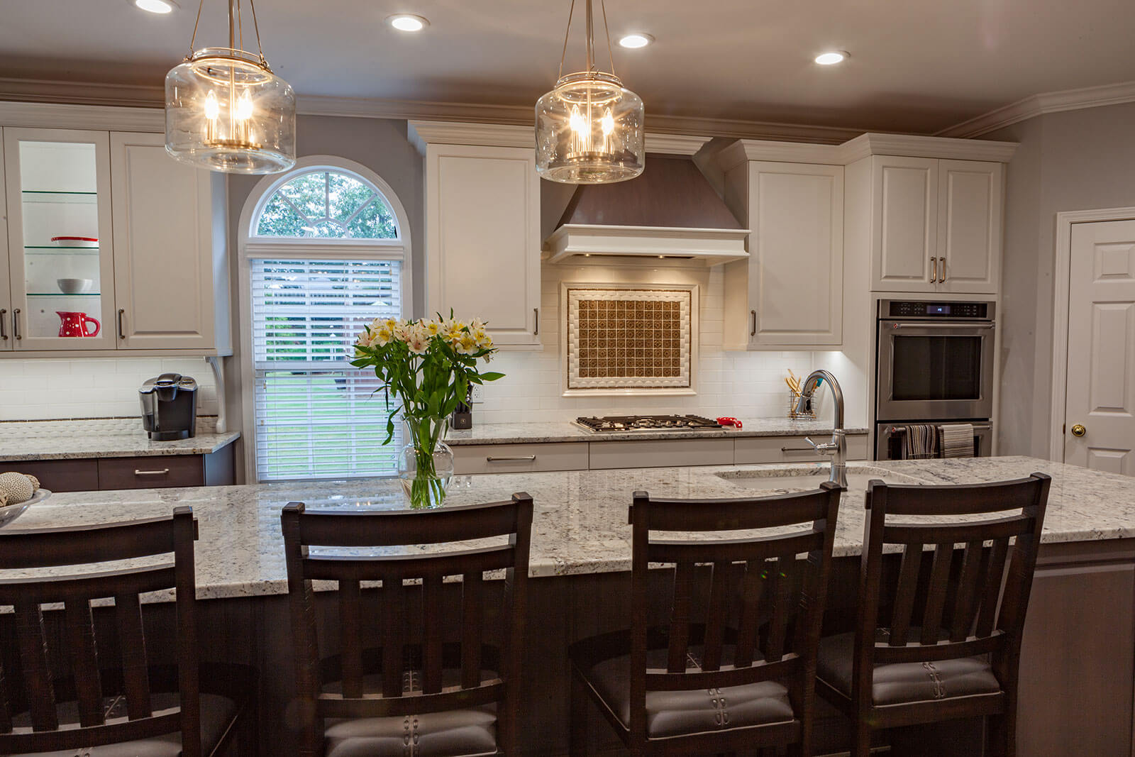 Galley Style Kitchen with Large Island - Cheryl Pett Design